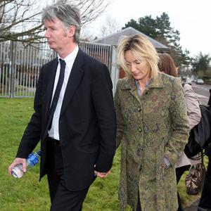 Hazel Stewart, seen with her husband David, leaves court on Tuesday