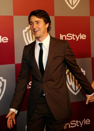 BEVERLY HILLS, CA - JANUARY 16:  Actor Edward Norton arrives at the 2011 InStyle And Warner Bros. 68th Annual Golden Globe Awards post-party held at The Beverly Hilton hotel on January 16, 2011 in Beverly Hills, California.  (Photo by Kevork Djansezian/Getty Images)