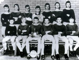 Deceased hunger striker Bobby Sands (seated fourth from left).  The Star of the Sea football team.