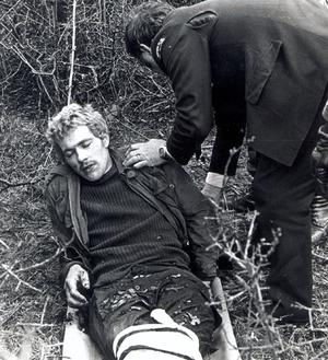 Francis Hughes, IRA killer and hunger striker being captures after Maze break