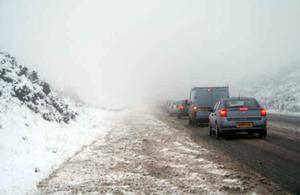 Heavy Snow on the Glenshane Pass on Tuesday 28th Oct 08. Photo by Conor McDonald, Maghera