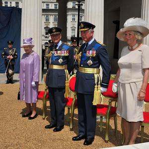 The Queen and other members of the royal family attend the unveiling of the Bomber Command Memorial in Green Park, London