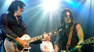 Vivian Campbell and Ricky Warwick of Thin Lizzy perform at the Best Buy Theater on March 25, 2011 in New York City.