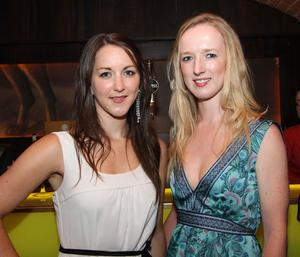 Alison Gough and Dominique Burke in Ollies nightclub, Belfast for the Stephen Webster Silver Collection launch hosted by Lunn's the Jewellers