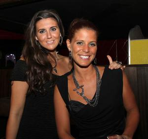 Eliza Rowe and Amelie Sabic in Ollies nightclub, Belfast for the Stephen Webster Silver Collection launch hosted by Lunn's the Jewellers