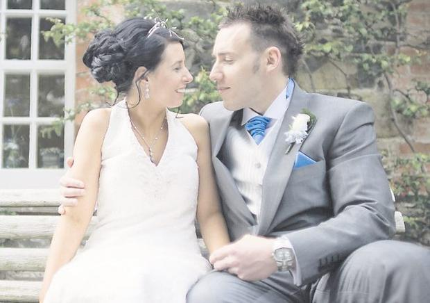 """Greatest Day: Gemma and Adam Graham  <p><b>To send us your Wedding Pics <a  href=""""http://www.belfasttelegraph.co.uk/usersubmission/the-belfast-telegraph-wants-to-hear-from-you-13927437.html"""" title=""""Click here to send your pics to Belfast Telegraph"""">Click here</a> </a></p></b>"""