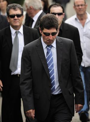 Spanish professional golfer Jose Maria Olazabal is seen during the funeral service of Seve Ballesteros