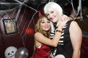 Ollies Halloween Party pictured Donna Wakeman and Diane Oliver