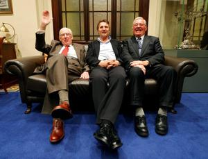 Liam with fellow Freemen Ian Paisley (left) and Syd Millar