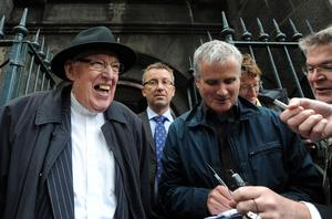 The Reverend Ian Paisley speaks to the press outside the Magdalen Chapel, Edinburgh, after protesting against the visit of Pope Benedict XVI who arrived in the city earlier in the day for a four day visit to the United Kingdom