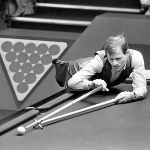 Alex Higgins in his 1985 heyday at the Crucible Theatre in Sheffield