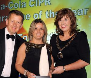 Julie O'Conor UTV Live Tonight Special on the Ryan Report, which won Coca-Cola CIPR News Programme of the Year
