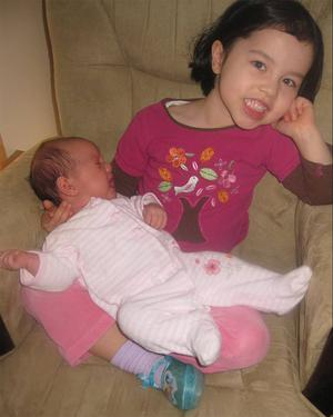 "BABY CLARA HURST WITH BIG SISTER LILY IN SEATTLE. <p><b>To send us your Baby Pics <a href=""http://www.belfasttelegraph.co.uk/usersubmission/the-belfast-telegraph-wants-to-hear-from-you-13927437.html"" title=""Click here to send your pics to Belfast Telegraph"">Click here</a> </a></p></b>"