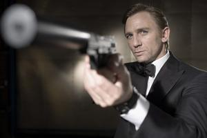 Aiming to please...Daniel Craig as James Bond from the movie Casino Royale