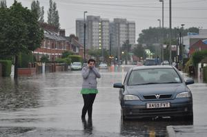 East Belfast floods June 2012. Image submitted by Conor Dunn