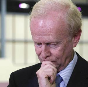 Sir Reg Empey after he failed to win the South Antrim seat.