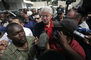 Bill Clinton's hectic schedule has included two trips to Haiti in under a month