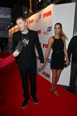 LONDON, ENGLAND - MAY 01:  Professor Green and Millie Mackintosh attend a party to celebrate FHM's annual poll of the 100 Sexiest Women in the World at Proud Bank on May 1, 2012 in London, England.  (Photo by Tim Whitby/Getty Images)