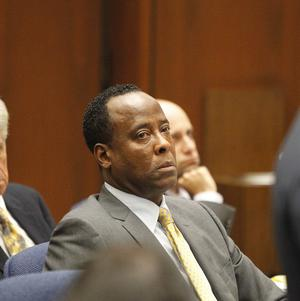 Dr Conrad Murray on the second day of his involuntary manslaughter trial in the death of Michael Jackson (AP)