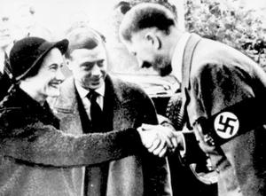 Library filer dated 3/10/1937 of the Duke of Windsor - the great great uncle of Prince Harry - and his wife meeting the German Chancellor Adolf Hitler