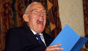 PACEMAKER, BELFAST, 10/12/2004: A delighted Reverend Ian Paisley during the ceremony where he was created a Freeman of the Borough of Ballymena in the town tonight.PICTURE BY STEPHEN DAVISON