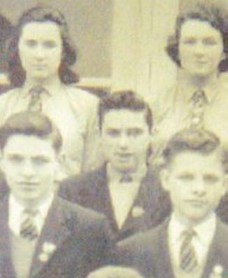George Best, centre,  at Lisnasharragh High School in 1961.