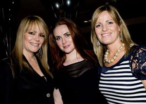 Tracey Hall, Davina Sands and Leigh Courtney at the opening night of Horatio Todds