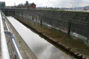 Colin Cobb's Titanic Walking Tours. The Thompson graving dock and pump house