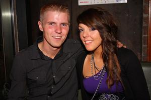 Mark Freeman and Sophie Gray from England enjoying a night out in The Apartment
