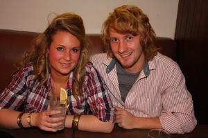 Holly Masters and Fred Sweet from Summerset enjoying a night out in The Apartment