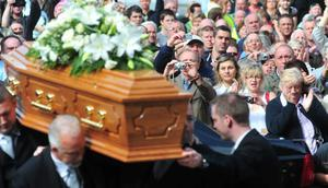 The funeral of Former Snooker World Champion Alex Higgins. August 2010