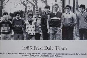 Darren Clarke back in 1985 as part of the Fred Daley Team