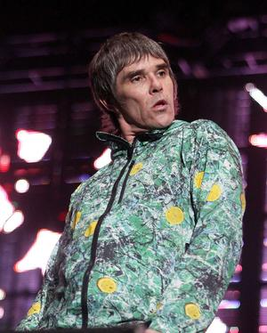 Ian Brown of the Stone Roses performing at Tennents Vital