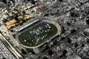 In this Jan. 17, 2010 photo released by the U.S. Air Force, an aerial view of Port-au-Prince, Haiti is shown after a major earthquake devastated the area on Jan. 12. (AP Photo/U.S. Air Force, Master Sgt. Jeremy Lock)