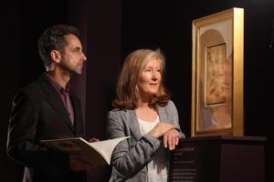 Senior Curator of Prints and Drawings at The Royal Library, Windsor Castle and Anne Stewart, Curator of Fine Art, National Museums Northern Ireland pictured at the new exhibition featuring a selection of Leonardo da VinciÄôs finest drawings