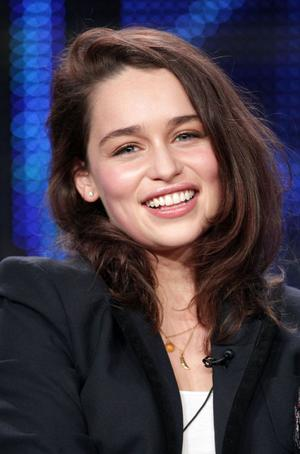 Actor Emilia Clarke speaks during the 'Game of Thrones' panel at the HBO portion of the 2011 Winter TCA press tour