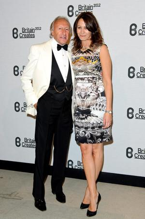 (L-R) Harold Tillman and Caroline Rush attends Britain Creates 2012: Fashion & Art Collusion  at Old Selfridges Hotel on June 27, 2012 in London, England.