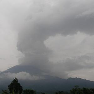 The Fuego volcano is seen from Yepocapa, south of Guatemala City (AP Photo/The National Institute for Seismology, Vulcanology, Meteorology and Hydrology of Guatemala, INSIVUMEH)