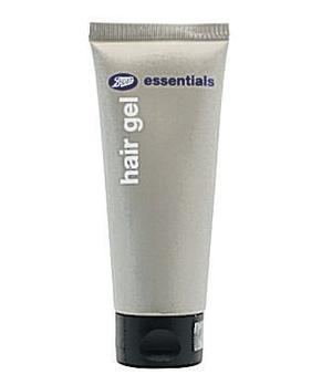<b>Boots Essentials Hair gel</b><br/>  Boots Essentials provides us with, well, the essentials for our grooming kit. If you're a fan of the slicked-back wet look - 1980s revival, anyone? - then squeeze a small amount of this gel into your hand and work through hair.<br/>  <b>Where</b> Boots (www.boots.com) <br/>  <b>How much</b> £1.01