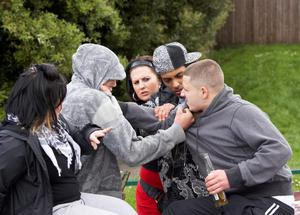 New powers will allow police to fine drunk and disorderly offenders. Posed Picture