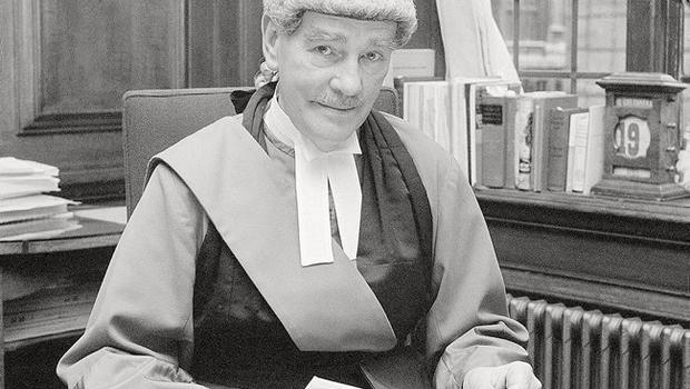 """Lord Chief Justice, Lord Widgery in his room at the Old Bailey as he looks through his report on the """"Bloody Sunday"""" shootings"""