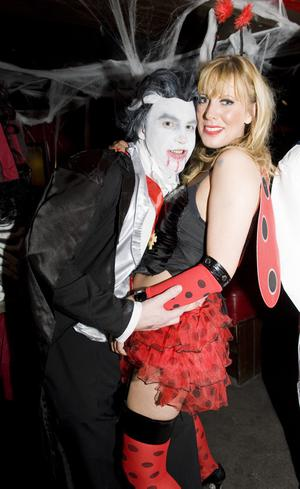 Ollies Halloween party  - pictured Eamonn McSorley and Julie Johnston