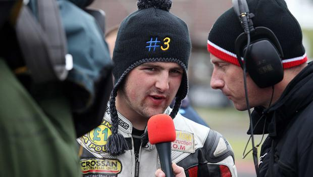 Michael Dunlop pictured in the grid area