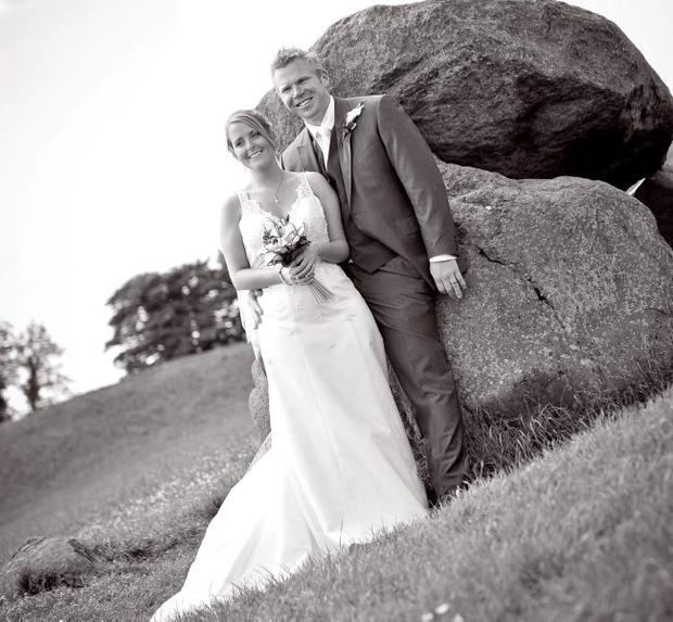 """Victoria and David Hallett were married on June 1 and had their reception in Belfast Castle. <p><b>To send us your Wedding Pics <a  href=""""http://www.belfasttelegraph.co.uk/usersubmission/the-belfast-telegraph-wants-to-hear-from-you-13927437.html"""" title=""""Click here to send your pics to Belfast Telegraph"""">Click here</a> </a></p></b>"""