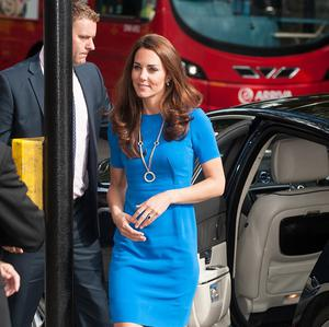 The Duchess of Cambridge arrived at the National Portrait Gallery for the Road to 2012 launch
