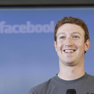 Mark Zuckerberg has set up a Facebook page for his dog Beast (AP)