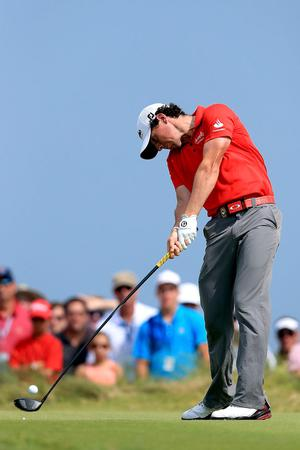 KIAWAH ISLAND, SC - AUGUST 12:  Rory McIlroy of Northern Ireland hits off the ninth tee during the Final Round of the 94th PGA Championship at the Ocean Course on August 12, 2012 in Kiawah Island, South Carolina.  (Photo by David Cannon/Getty Images)