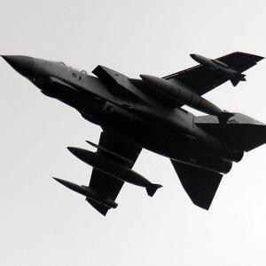 RAF Tornado fighter planes have destroyed missile launchers in Colonel Muammar Gaddafi's home town