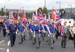 12TH JULY 2012.. KEVIN MCAULEY PHOTOGRAPHY MULTIMEDIA.. Orangemen and Bands march through Ardoyne on the 12th Morning..Pic Joe Gilmartin/Kevin McAuley Photography Multimedia