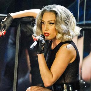 Lady Gaga performs at the Children In Need Rocks Manchester